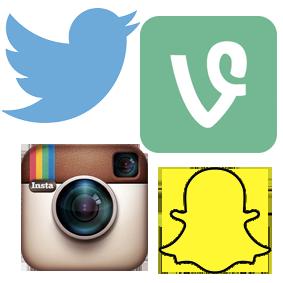 snapchat-twitter-instagram-vine-logot