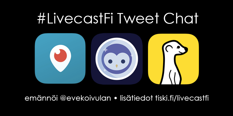 tiistaina 1.12. #LivecastFi Tweet Chat