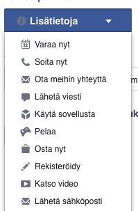 Facebook-toiminta-vaihtoehdot