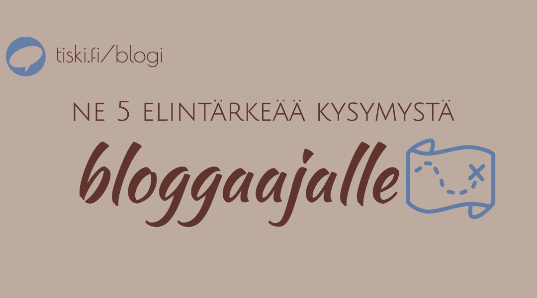 perustatko blogia? 5+1 tapaa erottua nykyisestä tarjonnasta