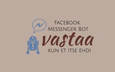 Facebook Messenger Bot auttaa varsinkin pienyrittäjää